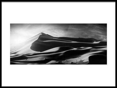 Art print titled The Dune and the Sun by the artist Jorge Ruiz Dueso