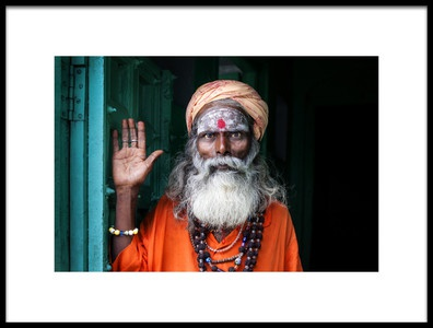 Art print titled The Face of Varanasi by the artist S. Amer