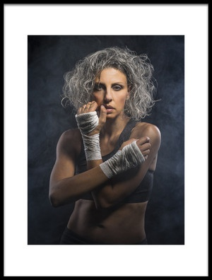 Art print titled The Fight by the artist Gerrit de Groot