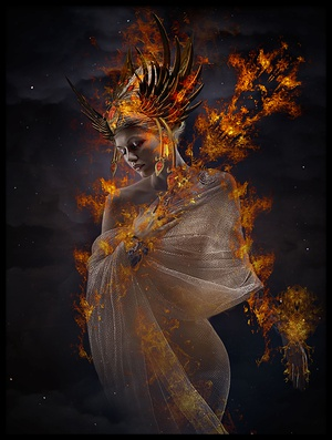 Buy this art print titled The Fire Princess by the artist Che Abu Bakar