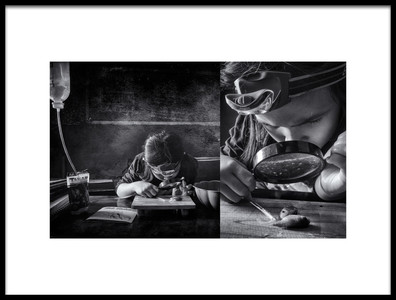 Art print titled The Fish Therapist 2 by the artist Arief Siswandhono