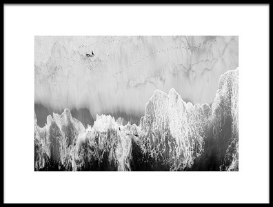 Art print titled The Flat Mountains by the artist Victor Guimarães