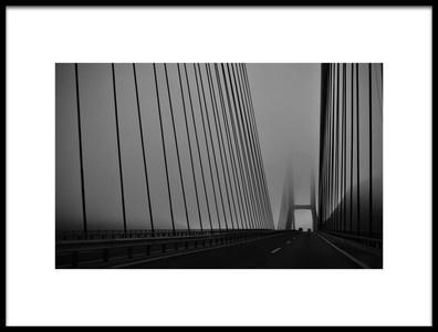 Art print titled The Foggy Bridge by the artist Orkidea W.