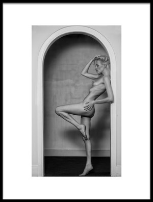 Art print titled The Framed Female Form by the artist Colin Dixon