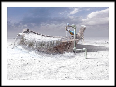 Art print titled The Frozen Water by the artist sulaiman almawash