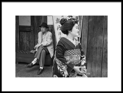 Art print titled The Geisha and the Old Man by the artist Lorenzo Grifantini
