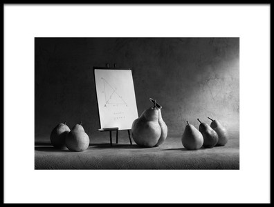 Art print titled The Geometry Lesson by the artist Victoria Ivanova