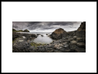 Art print titled The Giants Causeway by the artist Yolanda Romero Angueira
