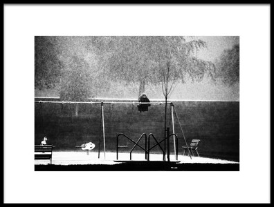 Art print titled The Girl In the Rain 2 by the artist ray clark