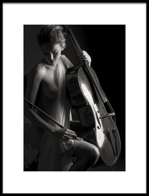 Art print titled The Girl With Cello by the artist James Yang