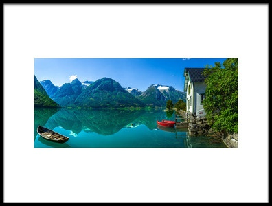 Buy this art print titled The Glacier Lake by the artist Christer Olsen