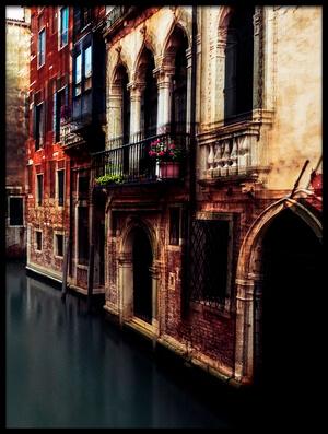 Art print titled The Gondolier II by the artist Carmine Chiriacò