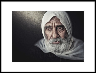 Art print titled The Grandpa by the artist Husain ALSaeed