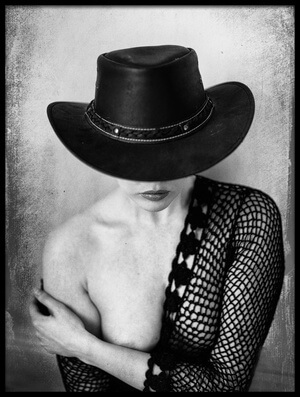 Art print titled The Hat by the artist Colin Dixon