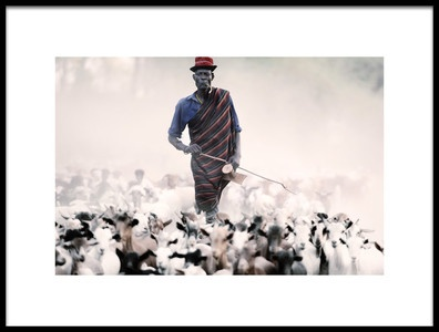 Art print titled The Herder by the artist Trevor Cole