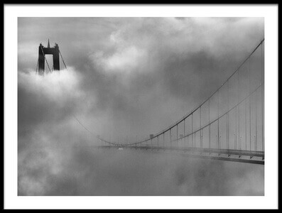 Buy this art print titled The High Coast Bridge by the artist Joakim Orrvik