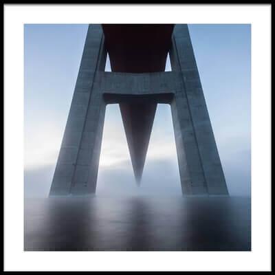 Art print titled The High Coast Bridge by the artist Joakim Orrvik
