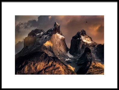 Art print titled The Horns at Sunrise by the artist Vincent Chen
