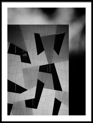 Art print titled The House With the Shapes by the artist Jeroen van de Wiel