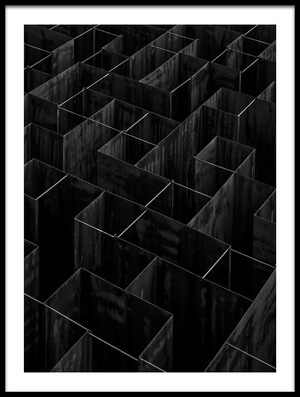 Art print titled The Labyrinth II by the artist Gilbert Claes