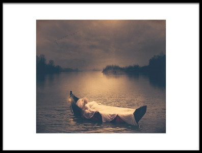 Art print titled The Lady of Shalott by the artist Magdalena Russocka