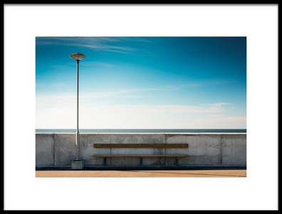 Art print titled The Lamp and the Bench by the artist Martin Frederiksen