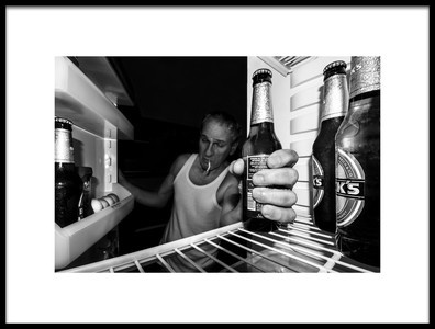Art print titled The Last Beer by the artist antonio zoccarato