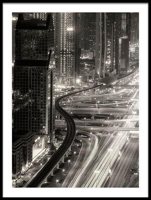 Buy this art print titled The Light River of Dubai by the artist Ahmed Thabet