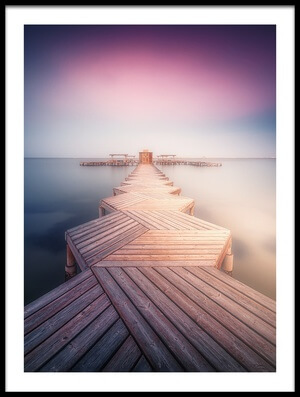 Buy this art print titled The Lighted Pier by the artist Ignacio Navarro