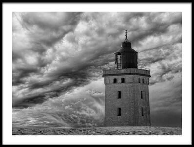 Art print titled The Lighthouse Mood by the artist Leif Løndal