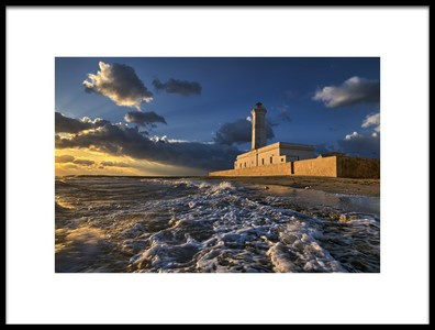 Buy this art print titled The Lighthouse Seen from the Sea by the artist Luigi Chiriaco