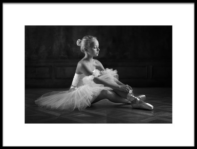 Art print titled The Little Ballerina 1 by the artist Victoria Ivanova