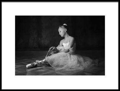 Art print titled The Little Ballerina 2 by the artist Victoria Ivanova