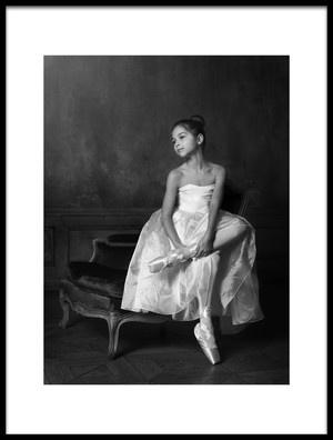 Art print titled The Little Ballet Dancer 2 by the artist Victoria Ivanova