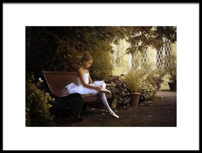 Art print titled The Little Dancer by the artist Victoria Ivanova