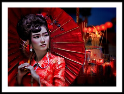 Buy this art print titled The Little Girl from China by the artist Joey Bangun