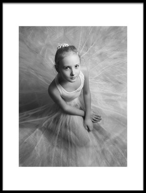 Art print titled The Little White Swan by the artist Victoria Ivanova