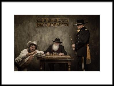Art print titled The Loan Arranger by the artist Gerwyn Williams