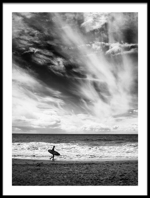 Buy this art print titled The Loneliness of a Surfer by the artist Lorenzo Grifantini