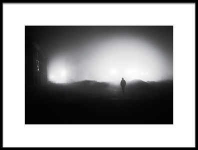 Art print titled The Lonely Stranger by the artist Marchevca Bogdan