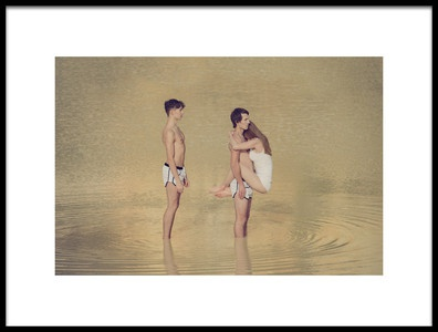 Art print titled The Love Triangle by the artist Miloš Nejezchleb