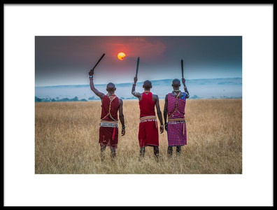 Art print titled The Masai On Full Display by the artist Jeffrey C. Sink