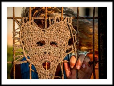 Art print titled The Mask by the artist Rabia Basha