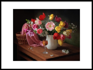 Art print titled The May Flowering by the artist Tatyana Skorokhod (Татьяна Скороход)