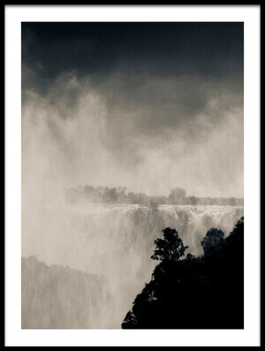 Art print titled The Mighty Falls by the artist Mario Moreno