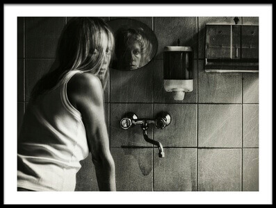 Buy this art print titled The Mirror by the artist Stefano Miserini