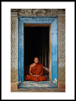 Buy this art print titled The Monks of Wat Bo by the artist Leah Kennedy