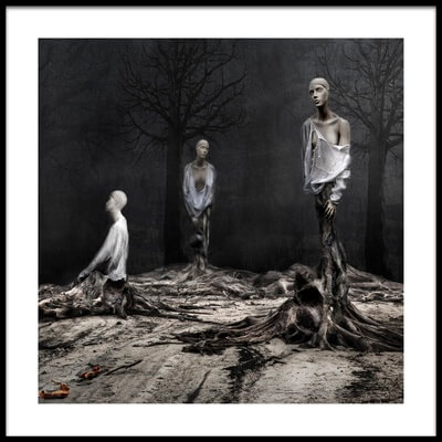 Buy this art print titled The Murdered Forest by the artist Martine Benezech