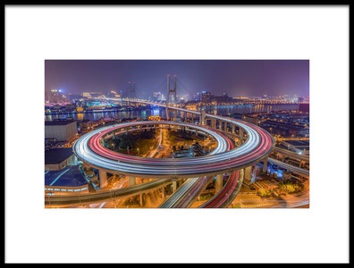 Buy this art print titled The Nanpu Bridge by the artist Barry Chen