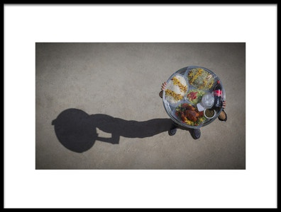 Art print titled The Ninth Day Food by the artist Amir Bakrani